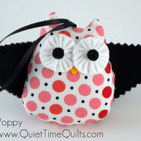 Felt Owl Ornament  Poppy by quiettimequiltsdc on Etsy