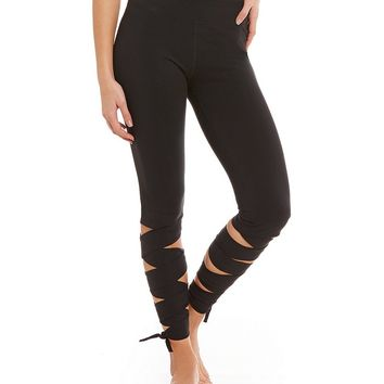 Free People FP Movement Wrap Ankle Compression Legging | Dillards