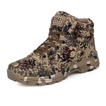 2017 Men Army Boots Male Zipper Camouflage Design Tactical Boots Delta with The Cotton Shoes for Men Black Military Boots