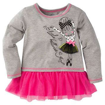 Gerber® Graduates® Toddler Girls' Ballerina Top with Bow - Grey
