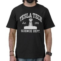 Nikola Tesla Tee Shirt from Zazzle.com