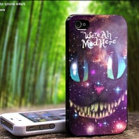 We're All Made Here Galaxy Cat Design For iPhone 5 / 4 / 4S - Samsung Galaxy S3 / S4 ( Black / White case )