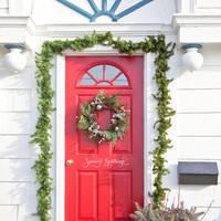 Seasons Greetings Front Door Decal Vinyl Lettering Wall Words Wall Art Seasons Greetings Front Door Decal