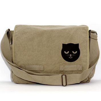 Messenger Bag: Sleepy Watson the Cat - Bag for Men & Women