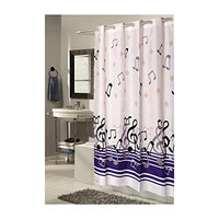 Park Avenue Deluxe Collection Park Avenue Deluxe Collection EZ-ON?  inch Blue Note inch  Polyester Shower Curtain