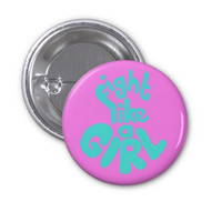 Feminist Pin (button badge) (Feminism Riot Grrrl Pastel Goth)