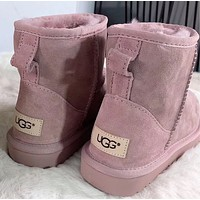 "shosouvenir : ""UGG"" Women Fashion Wool Snow Boots"