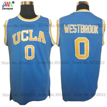 2017 Dwayne Mens Cheap Throwback Basketball Jerseys #0 Russell Westbrook Jersey UCLA Bruins Retro Stitched Embroidery Shirt
