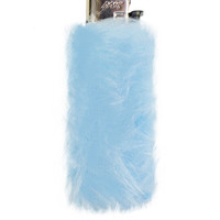 FURRY BABY BLUE LIGHTER CASE