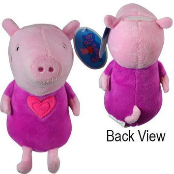 "E-ONE Peppa Pig Pink 7"" Plush Coin Bank"