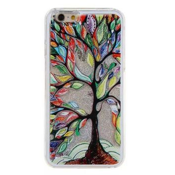 Unique shining sand tree Phone Case Cover for Apple iPhone 7 7 Plus 5S 5 SE 6 6S 6 Plus 6S Plus + Nice gift box! LJ160927-005