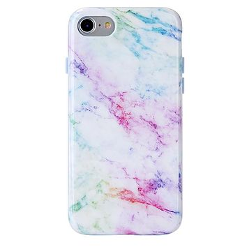 Pastel Rainbow Marble iPhone Case