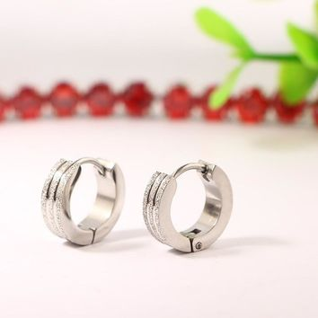 Man or Woman Stylish Titanium Earrings [11618158420]
