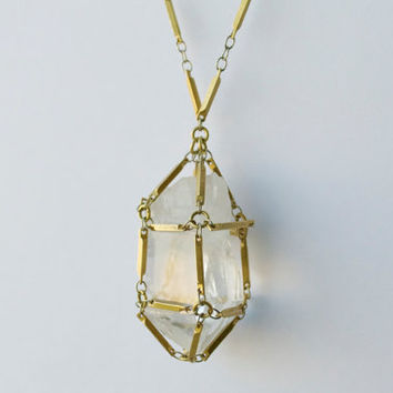 Captive Quartz Crystal Necklace (Medium)