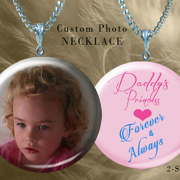 Custom photo necklace, Custom photo charm, custom photo jewelry,  personalized necklace,  personalized charm, large hole charm, P000248