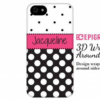 Personalized iPhone 6 case, iPhone 6 plus, custom iPhone 5c case, iPhone 5s case, iPhone 4s phone cases, galaxy s5 case, polka dots