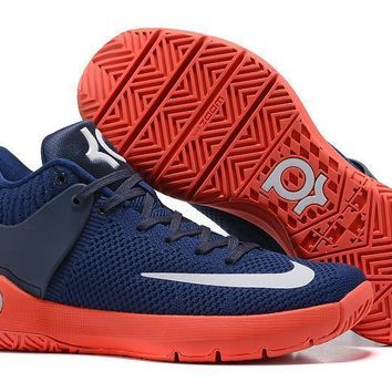 spbest Nike Zoom KD 5 Durant Knitting Basketball Shoes Blue 40-46
