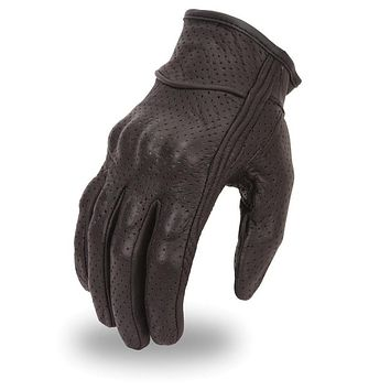 Perforated Gloves With Rubberized Knuckle