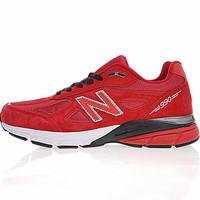 "New Balance in USA M990V 4 Retro Running Shoes ""Red&White"" 990RD4"