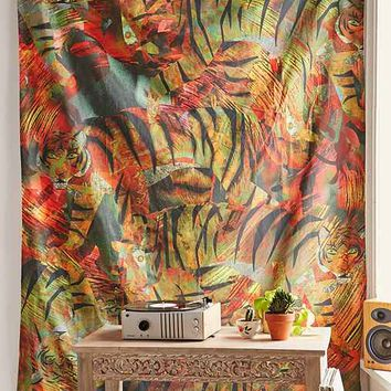 Magical Thinking Wild Tiger Tapestry