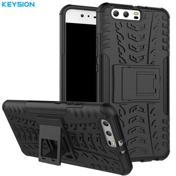 KEYSION Case for Huawei P10 P10 Plus Luxury PC + TPU Back Armor Covers Phone Accessories Bags Cases for Huawei P10Plus