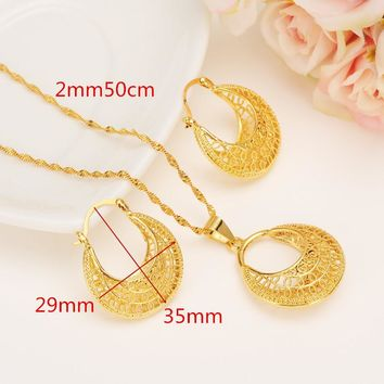 Ethiopian 24 k Yellow Solid Fine Gold Filled Set