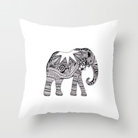 elephant Throw Pillow by katya