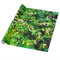 Evergreen Camo Wrapping Paper