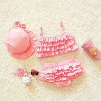 girls bikinis 2016 girls swimwear two pieces toddler girl swimsuits ruffle bathing suits biquini children bikini swimwear infant