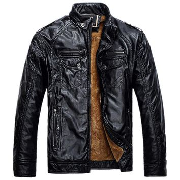 Black New Lether Jacket Man 2017 Biker Jackets Male Pu Leathers Coat For Men Masculine Jean Jacket Mens Motorcycle Jackets