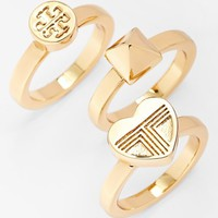 Tory Burch 'Adeline' Stackable Rings (Set of 3)