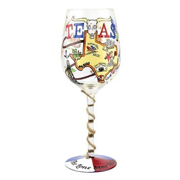 Top Shelf ''Texas'' 15-oz. Wine Glass (White)