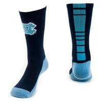 Mojo North Carolina Tar Heels Champ 1/2-Cushion Performance Crew Socks - Youth, Size: 7-9 (Blue)