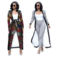 2 Piece Set 2018 Autumn Winter New Houndstooth Jacket Crop top And Pants Set Woman Suits Lady Suit Office Trench Coat 2018 New