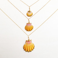 Encased in Love Sunrise Shell Necklace