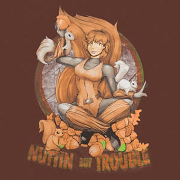 Squirrel Girl Nuttin But Trouble Ladies' Tee