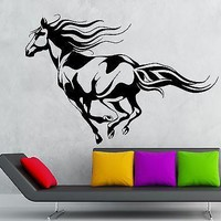 Wall Sticker Vinyl Decal Beautiful Horse Animal Rides Great Room Decor Unique Gift (ig2182)