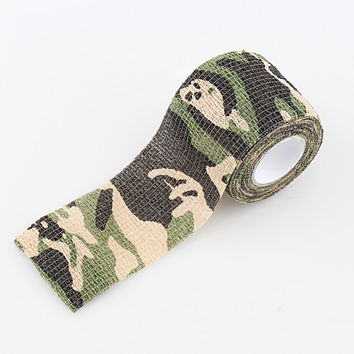 1 Roll Camo Stretch Bandage Camping Hunting Camouflage Tape Clothes