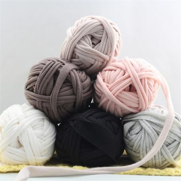 100g DIY Thick Knit Carpets Blanket Cotton Wool Yarn Basket Cloth Paragraph Soft Baby Cloth Knitting Wool