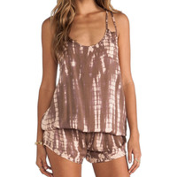 Tiare Hawaii Safari Romper in Brown