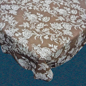 Floral Cheer Vinyl Flannel Backed Tablecloth