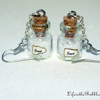 Magical Snow Earrings, Christmas, Let It Snow, Christmas Anytime, by Life is the Bubbles