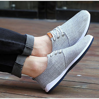 new men shoes woman flat shoes Spring summer trend lace up Casual Fashion breathable flats
