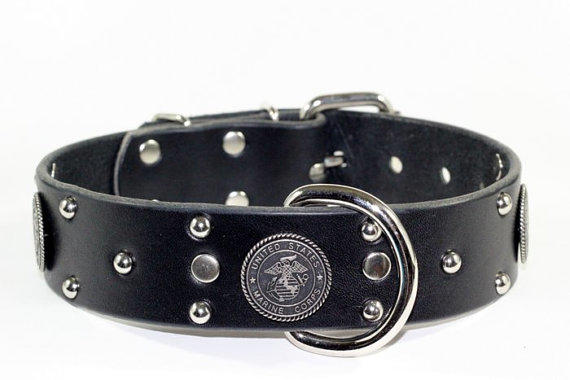 Usmc Leather Dog Collar