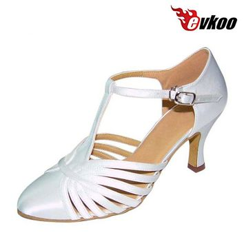 Evkoodance Size US 4-12 Six Color For Choice Dancing Shoes For Women 7cm Heel Latin Dance Shoes Woman Can Custom Evkoo-026