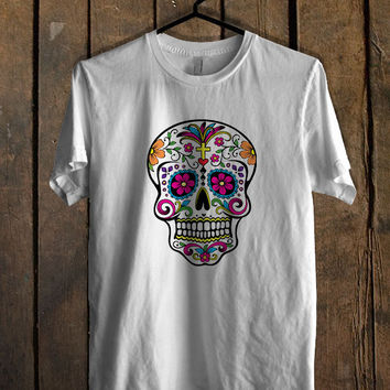 Sugar Skull T Shirt Mens T Shirt and Womens T Shirt **