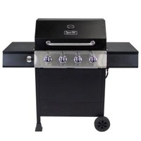 Dyna-Glo 4-Burner Open Cart LP Gas Grill in Black DGF493BNP at The Home Depot - Mobile