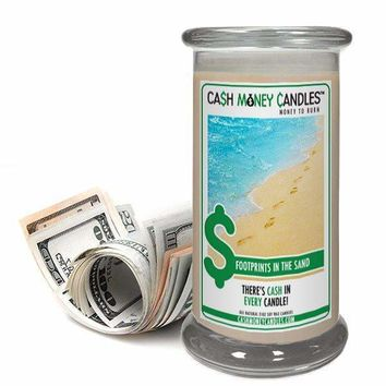 Footprints In The Sand | Cash Money Candle®