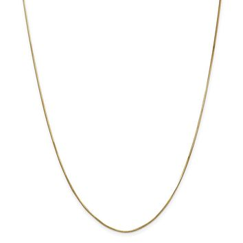 14K Yellow Gold 1.00mm Octagonal Snake Chain Necklace - Fine Jewelry Gift
