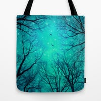 A Certain Darkness Is Needed II (Night Trees Silhouette) Tote Bag by soaring anchor designs ⚓ | Society6